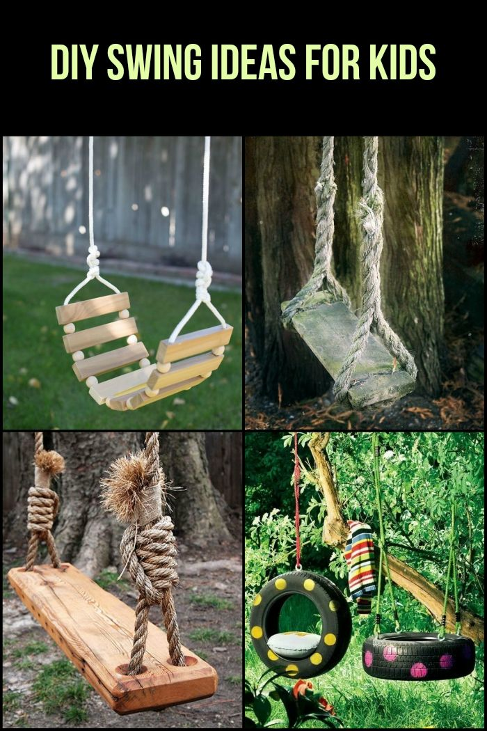 Take a look at these clever swing ideas for your kids!