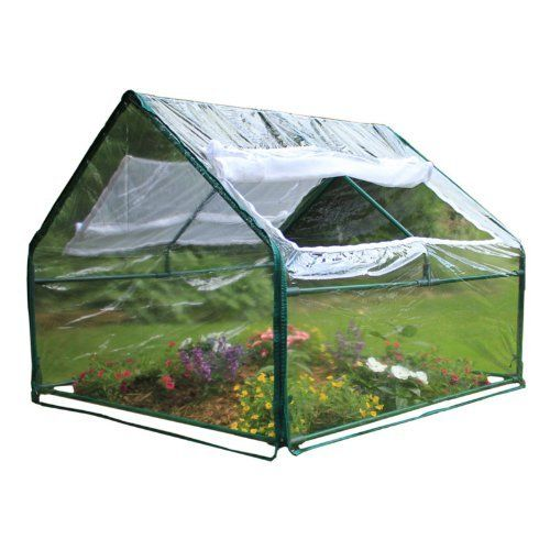 Frame It All Durable PVC Greenhouse Kit by Frame it all. $50.34. Zip-up windows on both sides allow air circulation while the inner mesh keeps out unwanted pests. Covers a 4' x 4' raised garden bed. Flip top roof for access from both sides. ?Easy to assemble ?Flip top roof for access from both sides ?Covers a 4' x 4' raised garden bed ?Expandable in 4' increments ?Provides great frost protection ?Zip-up windows on both sides allow air circulation while the inner mesh keeps ...