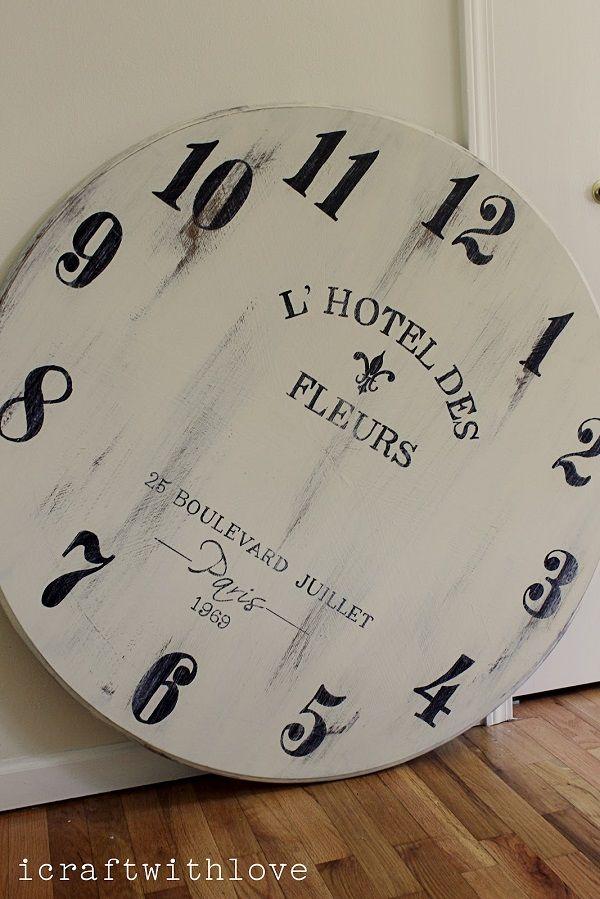 DIY Ideas: How To Make Your Own Clock , DIY HUGE Clock Face