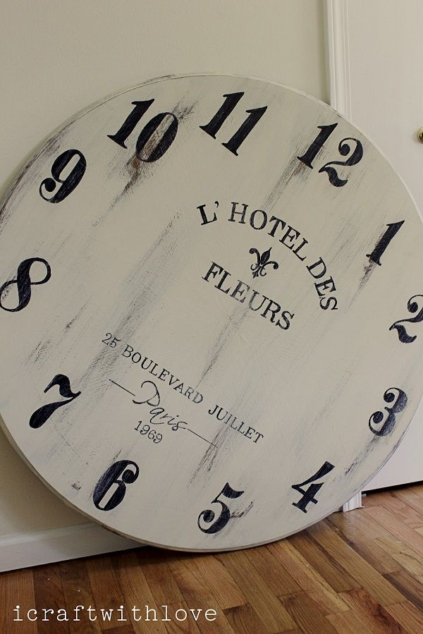 DIY Ideas: How To Make Your Own Clock , DIY HUGE Clock Face - in love w this clock!!!