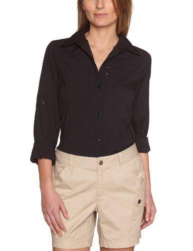 Intéressé(e) par les vêtements de randonnée ? Profitez de nos promotions femme de -20% à -50%*. Visitez également notre boutique Randonnée et Camping.  Columbia Silver Ridge Chemise femme Noir FR : L (Taille Fabricant: L) de Columbia, http://www.amazon.fr/dp/B0058Z0Y1W/ref=cm_sw_r_pi_dp_PRG.rb1Q2K7ZA