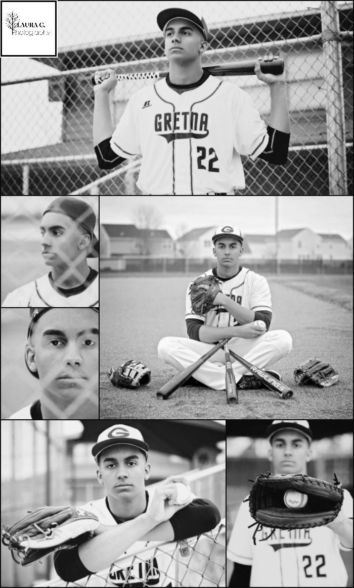 Adrian (AJ) Cotton | Class of 2017 | Baseball Senior Photos | Baseball Poses | Black and White Sports Photos | Athlete | Gretna | Nebraska Senior Photographer  | Laura C. Photography 2017