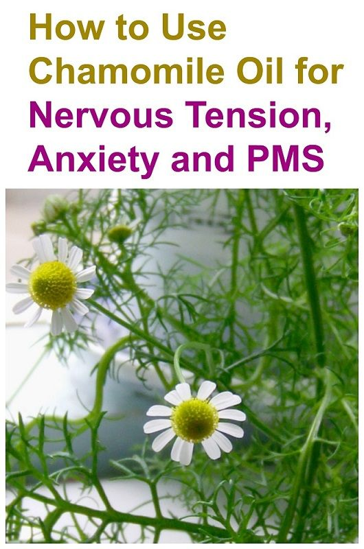 How to Use Chamomile Oil for Nervous Tension, Anxiety and PMS via NamasteBookshop on http://www.namastebookshop.com/blog/chamomile-oil/