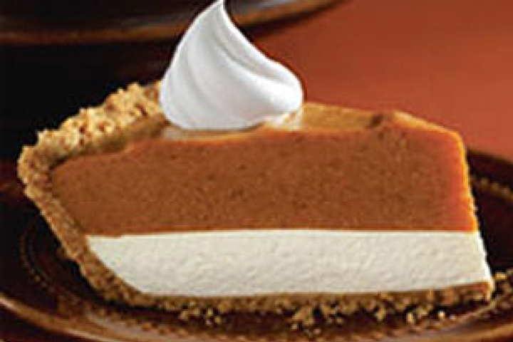 No bake Pumpkin pie cheesecake yumminess!  And so simple and fast.