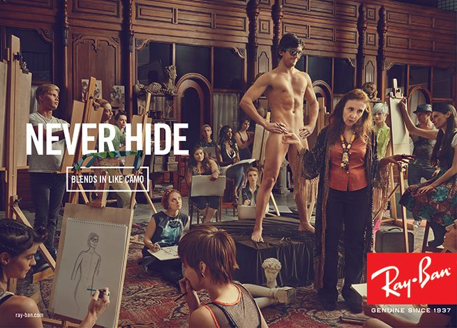 Image result for ray ban never hide