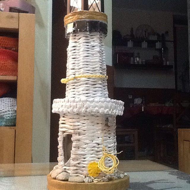 is completed  #lighthouse ... už je dokončený... maják ... aj podarovaný... kamarátke sa veeeeľmi páčil  #paperRoll  #handmade ... #маяк уже готов ... #myhandmade
