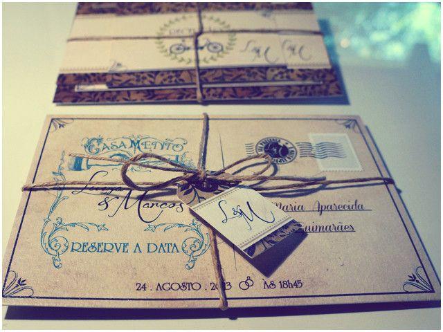 convite de casamento vintage - Pesquisa Google