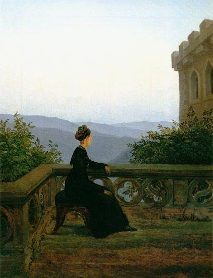 Bild:  Carl Gustav Carus - Frau auf dem Söller