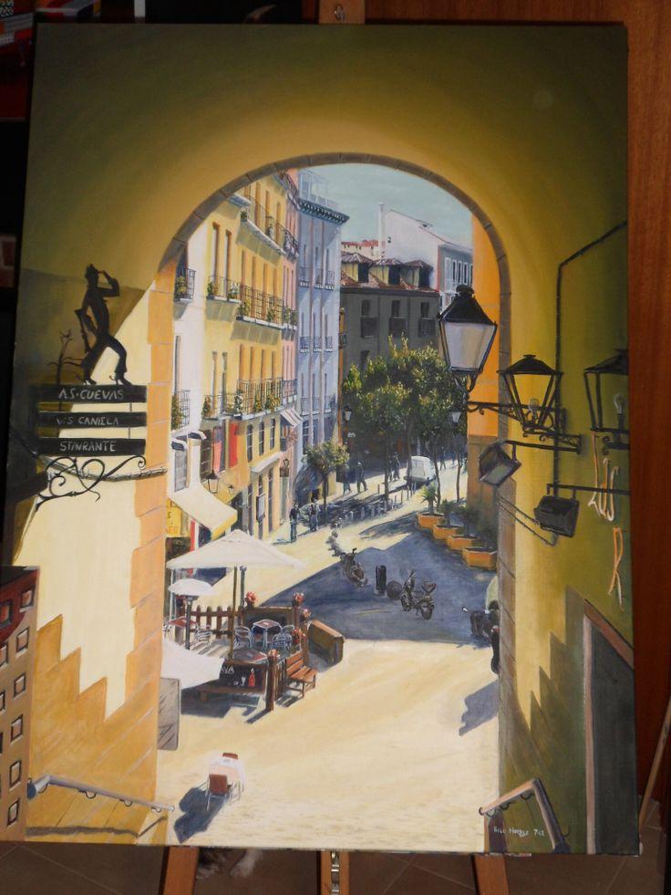 Madrid Oil on Canvas