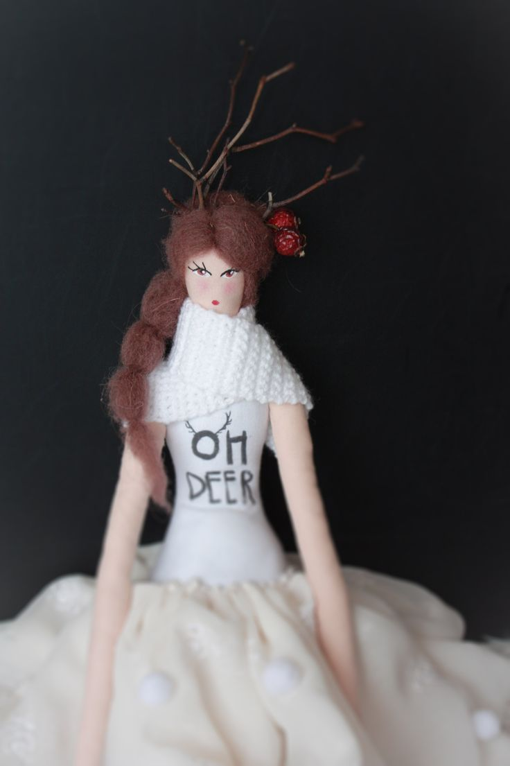 Winter fairy #sewing #doll #dolls #fairy #white #romantic #winter #christmas