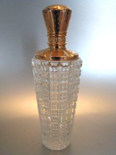 Kristallen parfumflesje met gouden dop   Parfumflesjes   Collectie   Antiek Zilver