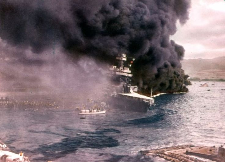 Rare and Incredible Color Photographs of the Attack on Pearl Harbor in 1941