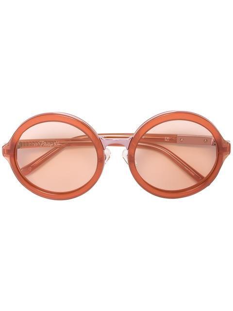 LINDA FARROW round shaped sunglasses. #lindafarrow #sunglasses