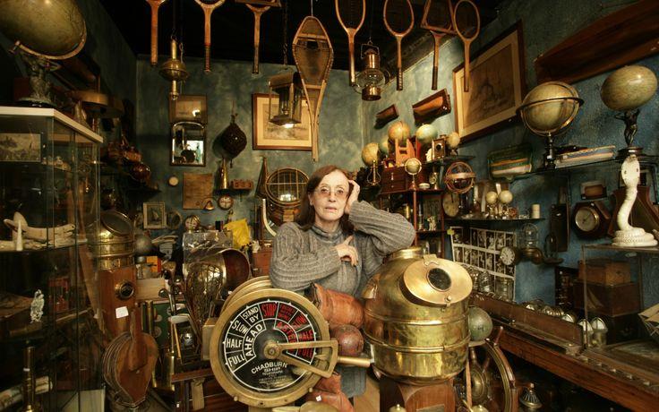 Marie-Elise Martin in her shop - l'Armada, inside the giant flea market at the Porte de Clignancourt, Paris. Photo: Patrick Robert.