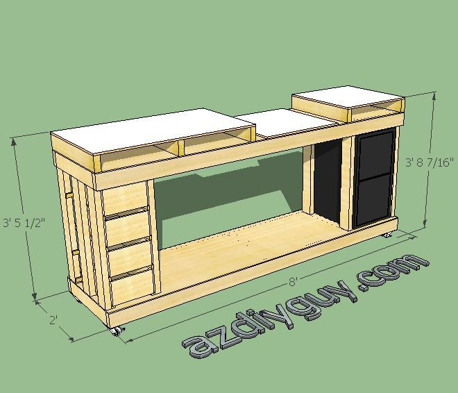 Sketchup modeling my miter saw workbench with free 3d cad for Table design sketchup