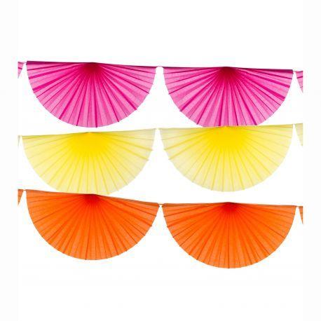 Guirlande éventail aux couleurs tropicales #guirlande #tropical #cocktail #fete #summer #fiesta #ete #party