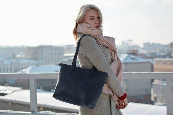 Tote bag zipper, Leather handbags for women, Monogram leather tote bag, Slim leather tote bag, Leath
