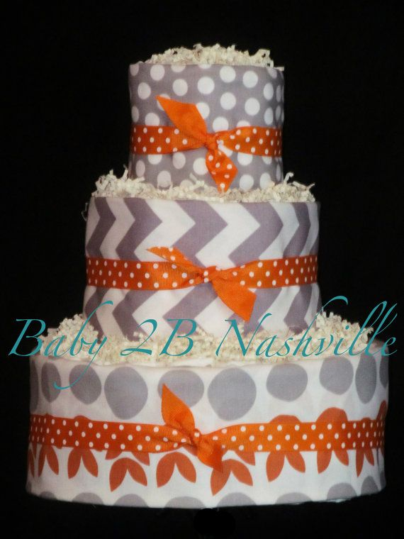 Diaper Cake for Boys or Girls  Di in Grey by Baby2BNashville, $92.00