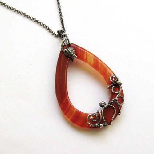 Wire Jewelry, Jewelry Inspiration, Beautiful Pendants, Agates Necklaces, Beads, Jewelry Ideas, Wire Wrapped Pendant, Red Agates, Wire Wraps Pendants