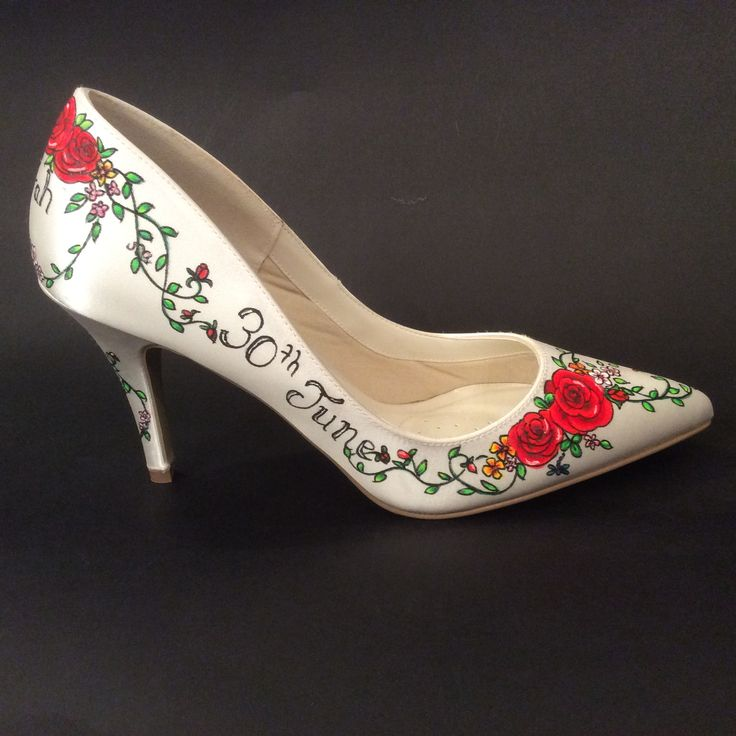 Hand drawn shoes by Beretun Designs Brighton