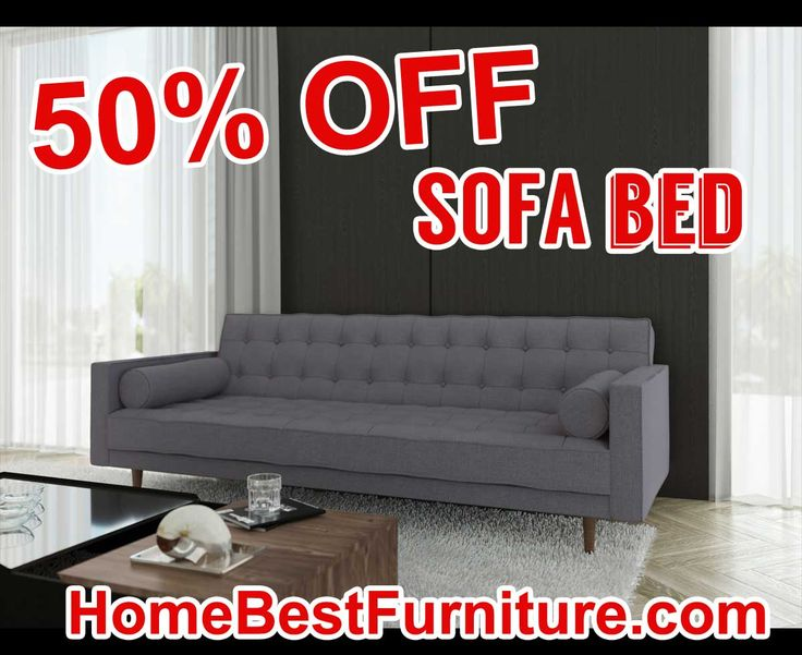 50 PERCENT OFF DISCOUNT Marseille Modern 3 Seater Sofa Bed