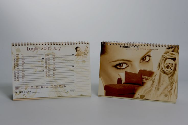 Corporate Identity for the new brand: Seduta d'Arte. Calendario 2005