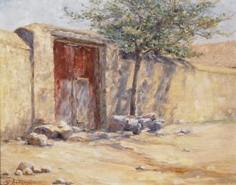 Σοφία Λασκαρίδου (Sofia Laskaridou-1862-1965): η κόκκινη πόρτα, Εθνική Πινακοθήκη Αθήνα (National Gallery. Athens)
