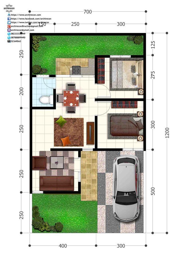 Perumahan Green Land Villa - Denah Type 45