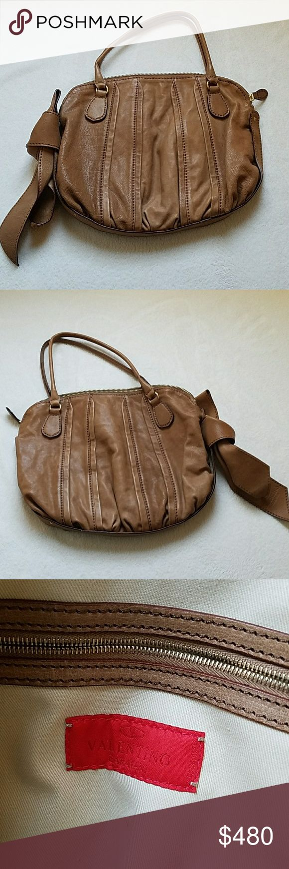 Valentino Garavani Tan Purse Discontinued Valentino Purse. Lightly used. One small stain on the inside from an uncapped pen. Valentino Bags Shoulder Bags #valentinopurse