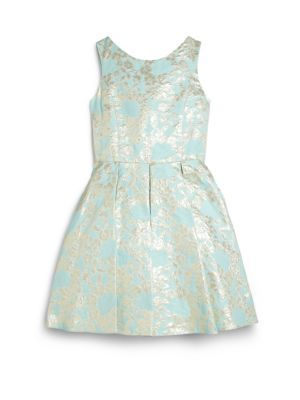 Дэвид Чарльз - Дамаск Leaf платье девушки - Saks.com