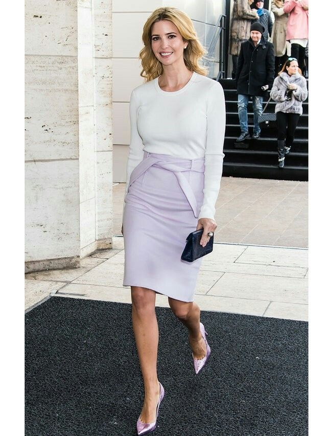 Ivanka Trump. Pencil skirt and pointed toe pumps. Beauty on High Heels #Fashion