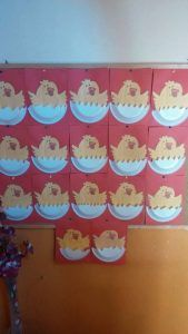 paper plate hatching chick craft