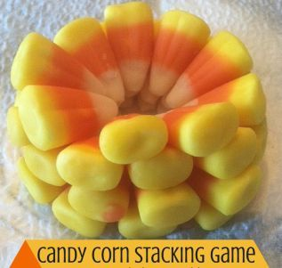 Halloween Math Game Activities: Candy Corn Stacking Game