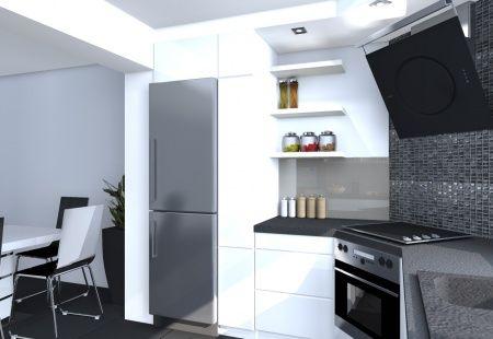 Meble kuchenne Słupsk - Projekt małej kuchni dla klienta w Słupsku - STOL-BUD