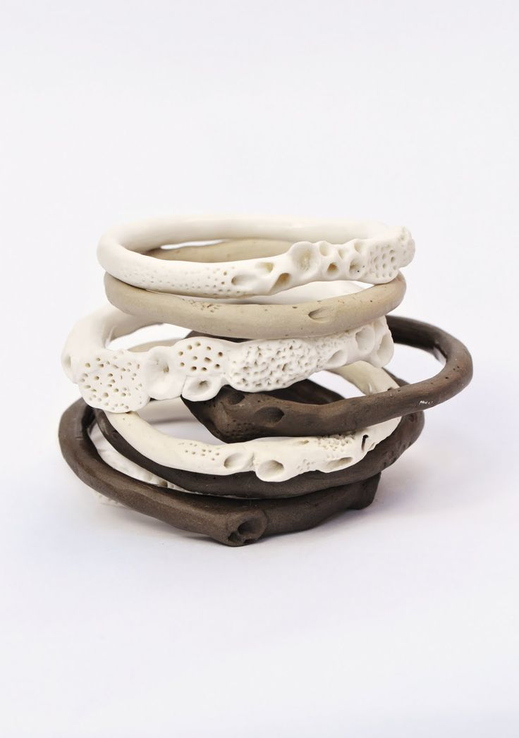 Rock Coral Bangles by Katherine Wheeler. Hope these are sustainably harvested. [edit: they are porcelain :) ]
