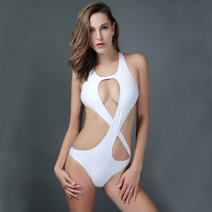 New 2016 Swimsuits Monokini Push Up Swimwear For Girls Party White One Piece Bathing Suits Hollow Sexy Swimsuits Women Monokini