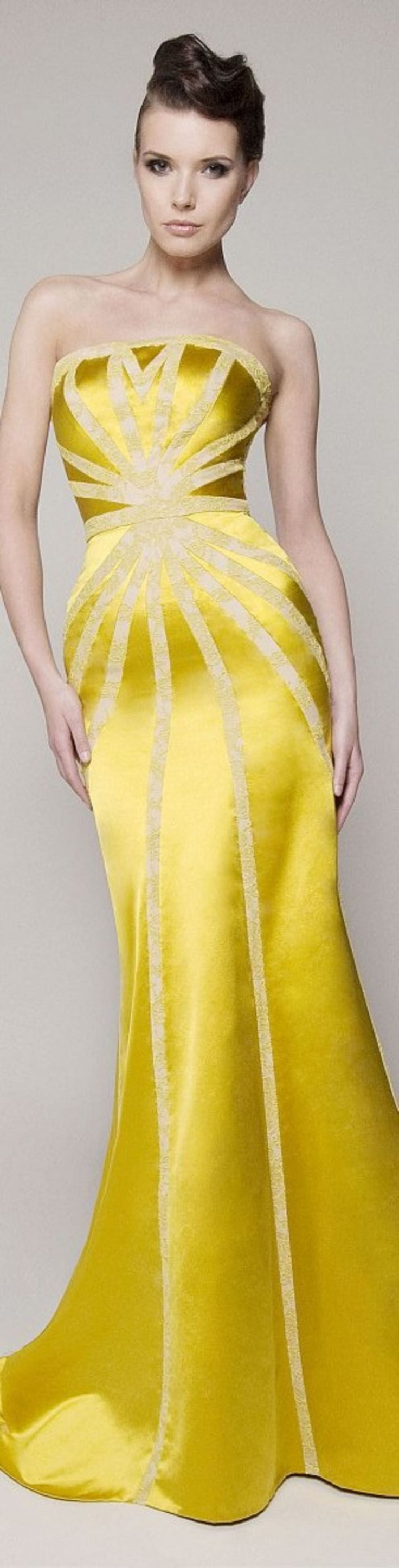 60 Inspiring Yellow Lace Wedding Dress Ideas