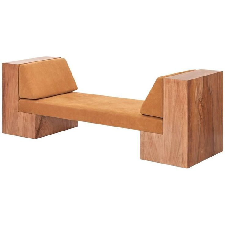 INI Daybed in Solid Wood and Natural Leather | From a unique collection of antique and modern daybeds at https://www.1stdibs.com/furniture/seating/day-beds/