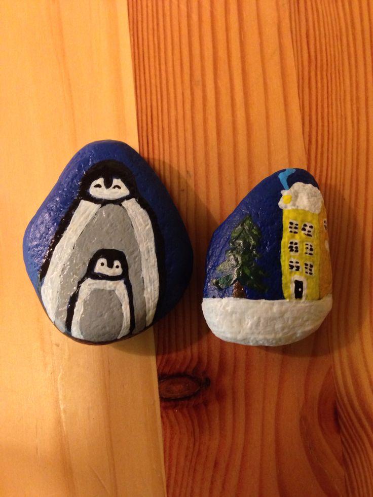 Painted stones -Winter