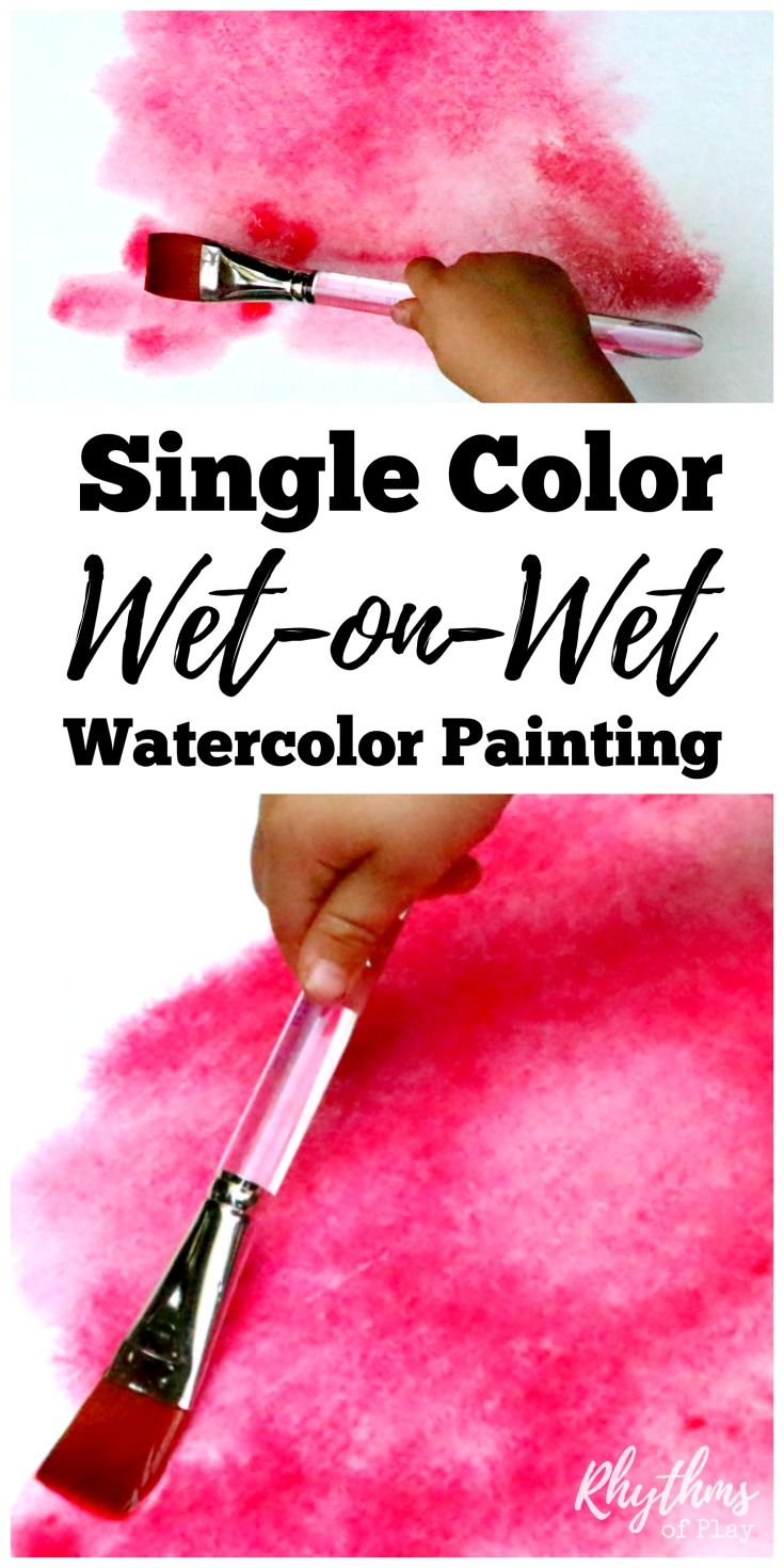 Single color wet-on-wet watercolor painting is a simple art activity to help young children learn about and experience color. It is a process art technique used and taught in Waldorf education in schools and homes all over the world. When finished your beautiful creations can be made into cards and other crafts. An easy art project for homeschoolers and a fun after school idea for kids!