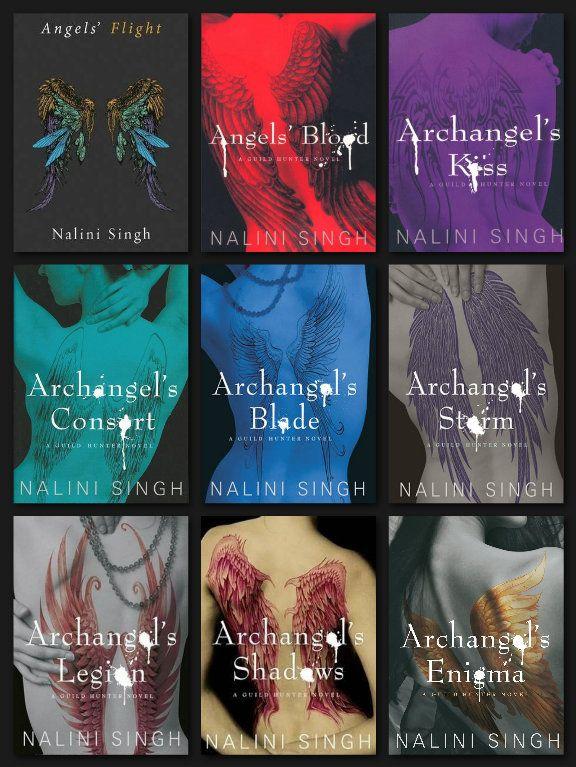 Guild Hunter Series by Nalini Singh - Books 1 to 8 + series anthology