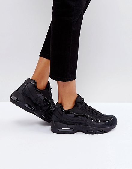 960fb375250e Nike Air Max 95 Sneakers In All Black size 10.5 ASOS