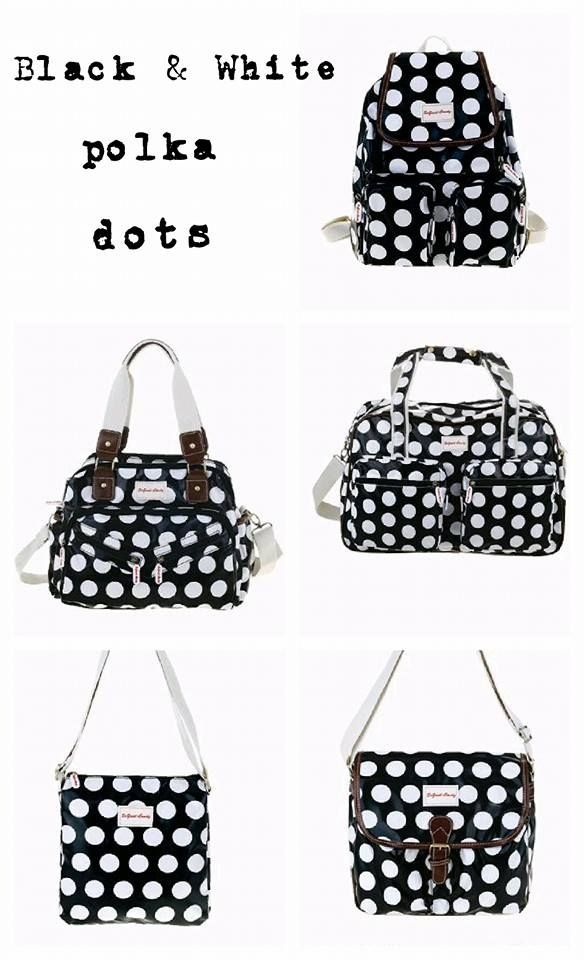 Love these Black & White polka bags!