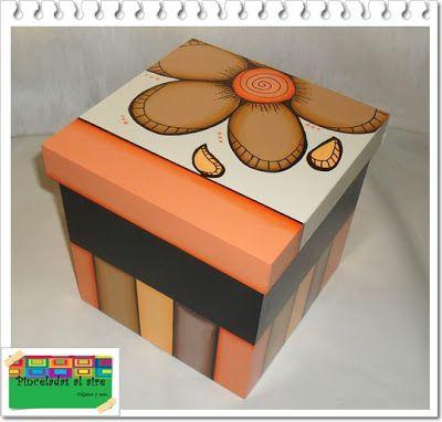pinceladas al aire cajas cajas decoradas de