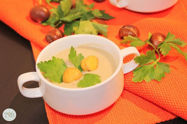 Maronicremesuppe #vegan - Tschaakii's Veggie Blog