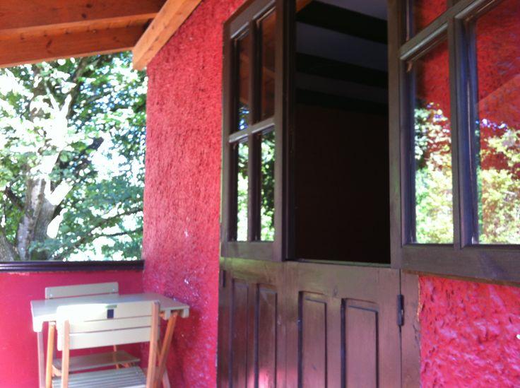 Exterior del bungalow tipo Torre para 2 personas del Camping Playa de la Franca