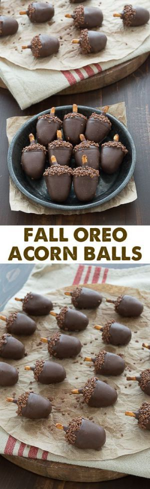 Fall Oreo Acorn Balls Recipe and Tutorial   The First Year