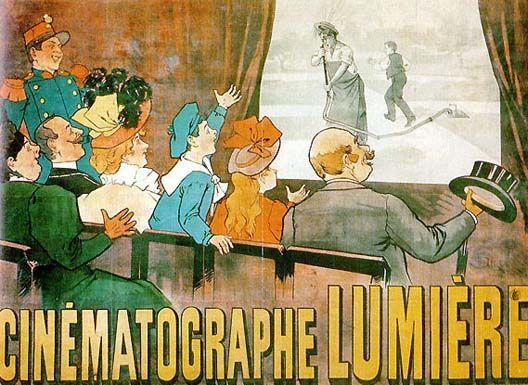 Affiche de la premiere seance publique du cinema - les freres Lumiere, 28 decembre 1895