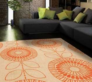 Onix   ON05 Scandi Flower Orange Rug · Orange RugsModern RugsLiving Room ... Part 97