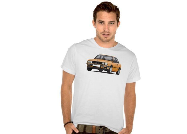 BMW E30  (3 Series) T-shirts.     #bmw #e30 #bmwe30 #bmw3 #automobile #tshirts #illustration #classiccars #carillustrations #auto #90s #80s #zazzle